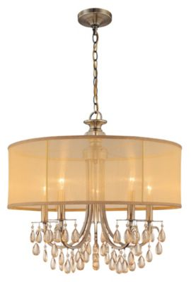 Hampton 5 Light Drum Shade Chandelier