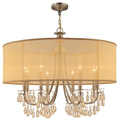 Hampton 8 Light Drum Shade Chandelier