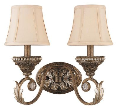 Roosevelt 2-Light Weathered Patina Sconce