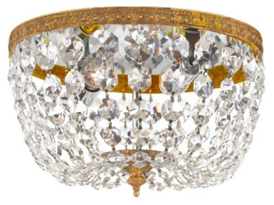 2 Light Crystal Ceiling Mount