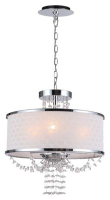 Allure 3 Light Drum Shade Chandelier