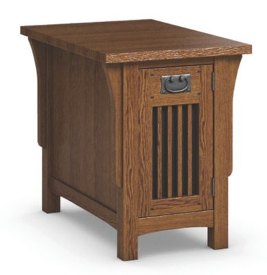 Arts & Crafts Chairside Table with Door