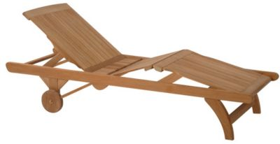 Classic Adjustable Knee-Bend Chaise Lounge with Wheels