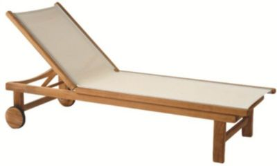 St. Tropez Adjustable Chaise Lounge with Wheels