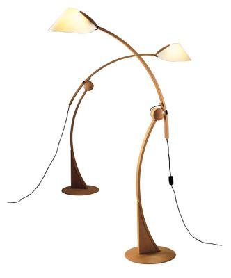 Apollo Beech Wood Floor Lamp