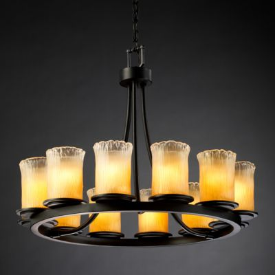 Dakota 12-Light Ring Chandelier (Short)