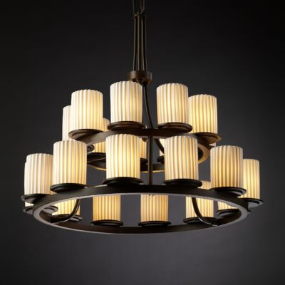 Dakota 21-Light 2-Tier Ring Chandelier