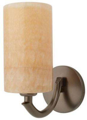 Onyx Cylinder 1-Light Wall Sconce