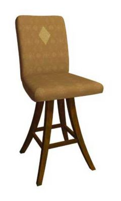 1217 Series Upholstered Memory Swivel Seat Barstool