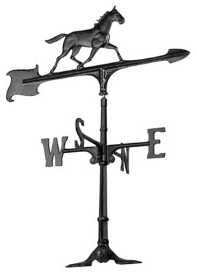 30  Horse Accent Weathervane - Black