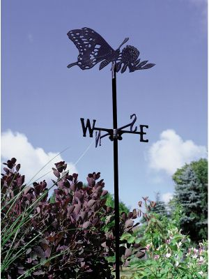 Garden Directions Butterfly Garden Weathervane - Black
