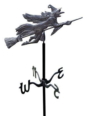 Garden Directions Flying Witch Garden Weathervane - Black