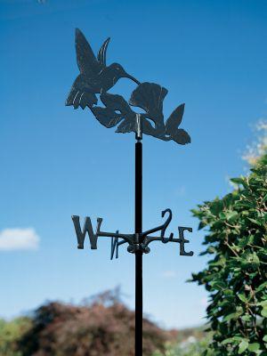 Garden Directions Hummingbird Garden Weathervane - Black