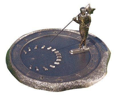 Golfer Sundial - French Bronze