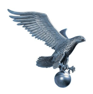 Large Flagpole Eagle - Pewter/Silver