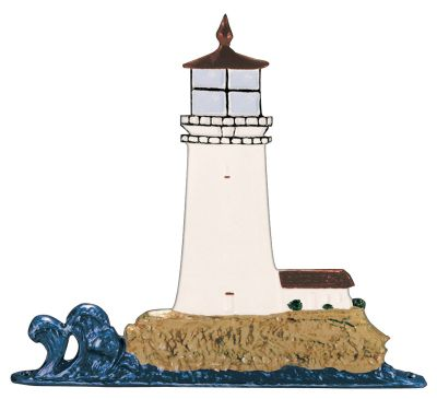 Lighthouse Mailbox Ornament - Multi-Colored