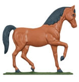 Horse Mailbox Ornament - Multi-Colored