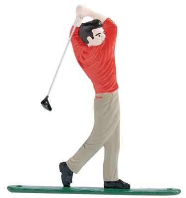 Golfer Mailbox Ornament - Multi-Colored