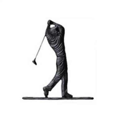 Golfer Mailbox Ornament - Black