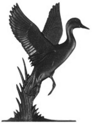 Duck Mailbox Ornament - Black