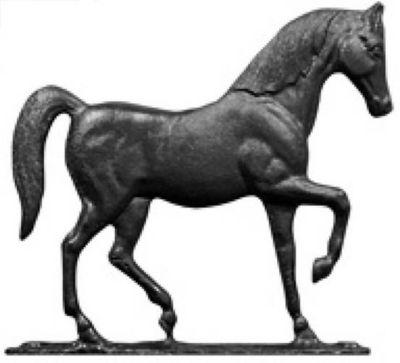Horse Mailbox Ornament - Black