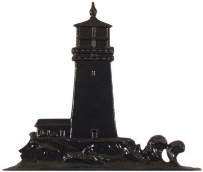 Lighthouse Mailbox Ornament - Black