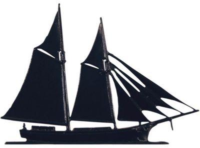 Schooner Mailbox Ornament - Black