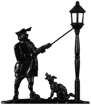 Lamplighter Mailbox Ornament - Black