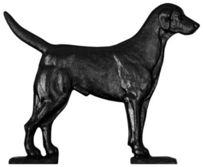 Black Lab Mailbox Ornament - Black