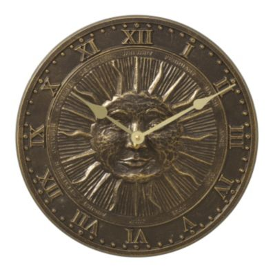 Minutes & Degrees™ Sunface Clock - French Bronze