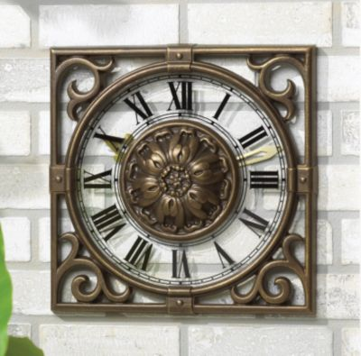 Minutes & Degrees™ Irongate Clock - French Bronze