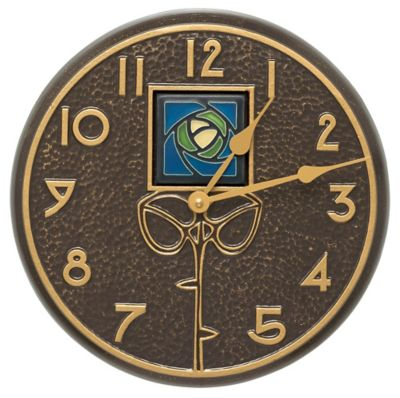 Minutes & Degrees™ Blue Dard Hunter Rose Clock - French Bronze