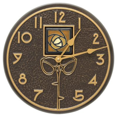 Minutes & Degrees™ Amber Dard Hunter Rose Clock - French Bronze
