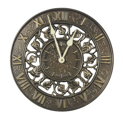 Minutes & Degrees™ Ivy Silhouette Clock - French Bronze