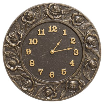 Minutes & Degrees™ Rose Clock - French Bronze
