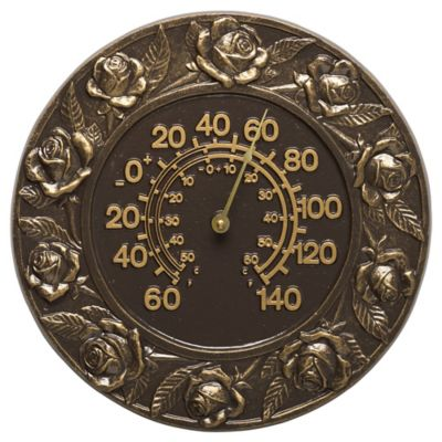 Minutes & Degrees™ Rose Thermometer - French Bronze
