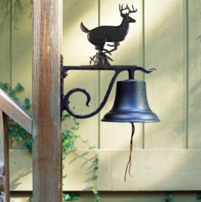 Large Country Bell with Buck - Black