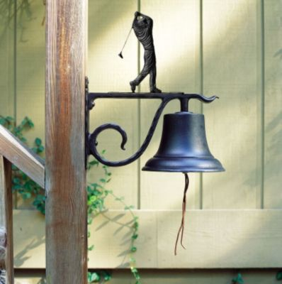 Large Country Bell with Golfer - Black