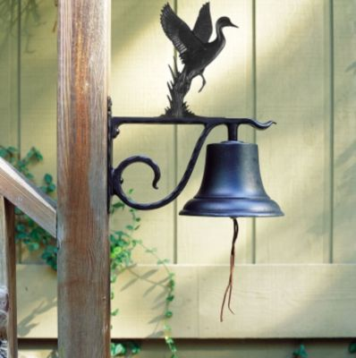 Large Country Bell with Duck - Black