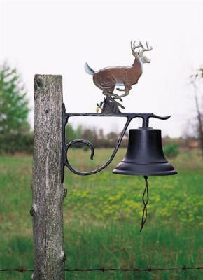 Large Country Bell with Buck - Multi-Colored