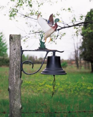 Large Country Bell with Duck - Multi-Colored
