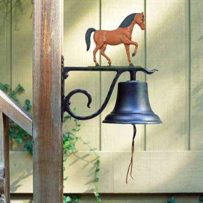 Large Country Bell with Horse - Multi-Colored