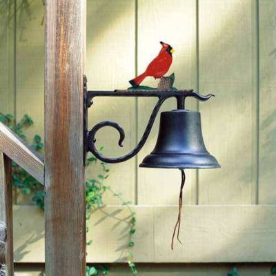 Large Country Bell with Cardinal - Multi-Colored