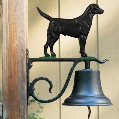 Large Country Bell with Black Lab - Multi-Colored