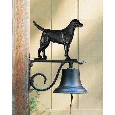 Large Country Bell with Black Lab - Black