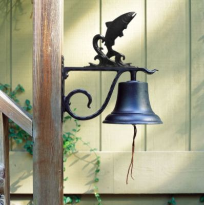 Large Country Bell with Trout - Black