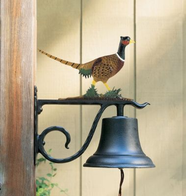 Large Country Bell with Pheasant - Multi-Colored
