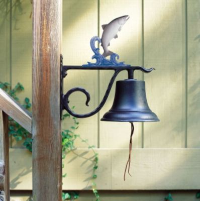 Large Country Bell with Trout - Multi-Colored
