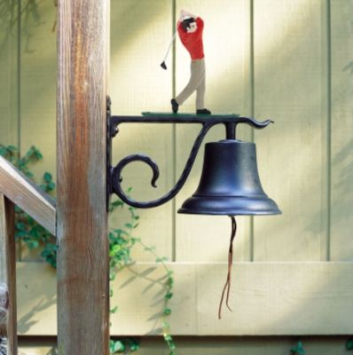 Large Country Bell with Golfer - Multi-Colored
