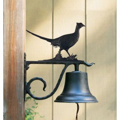 Large Country Bell with Pheasant - Black